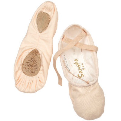 Sansha Adult Pro Canvas Split-Sole Ballet Shoe - 1C - Enchanted Dancewear