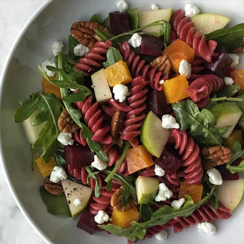 Fall Harvest Pasta Salad with Sfoglini Beet Fusilli