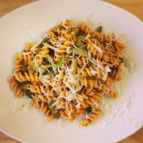 Sfoglini Chili Pepper Fusilli with Zucchini and Anchovies