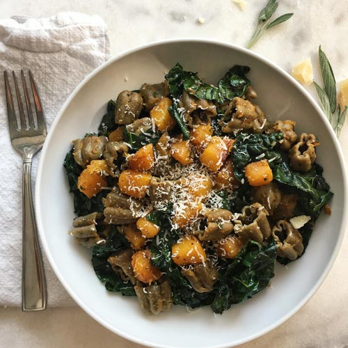 Sfoglini Hemp Zucca with Caramelized Butternut Squash & Kale