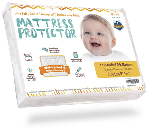 Waterproof Crib Mattress Protector - Bamboo