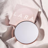 Lara 10x Rose Gold magnetic magnifying mirror