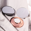 Lara 10x Rose Gold, black and white magnetic magnifying mirrors