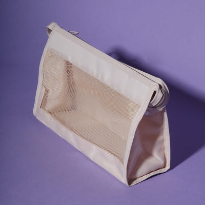 Beige waterproof shower bag