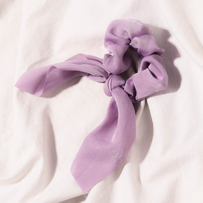 Lavender fabric hair tie scrunchie