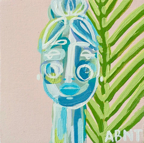 "Palm for Olivia . 5x5"" - Natalie Taylor"