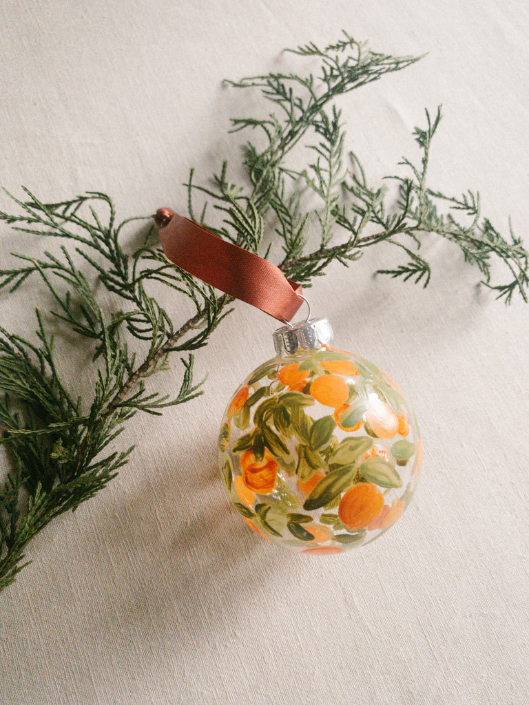 ORANGE GARLAND ORNAMENT - Red Ribbon