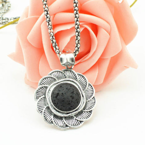 'Petal' Lava Stone Essential Oil Diffuser Necklace