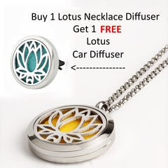 'Signature Lotus Bundle Deal' Car & Necklace Diffuser