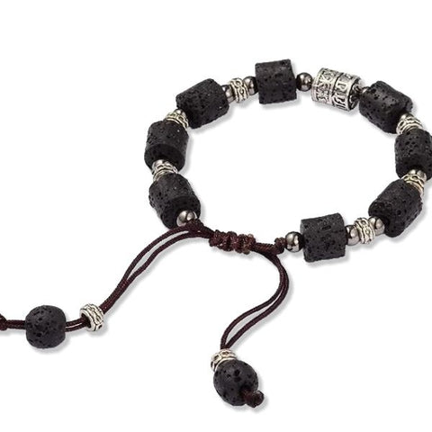 Bracelet - 'Antique' Lava Stone Essential Oil Bracelet Diffuser