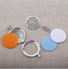 'Cotton Refill Pads' Dream Catcher Necklace