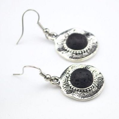 Earrings - 'Harmony' Lava Stone Essential Oil Earrings Diffuser