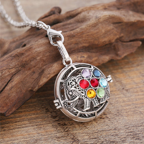 'Chakra Elephant' Essential Oil Locket Necklace Diffuser
