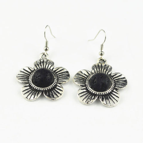 'Flowering' Lava Stone Essential Oil Earrings Diffuser