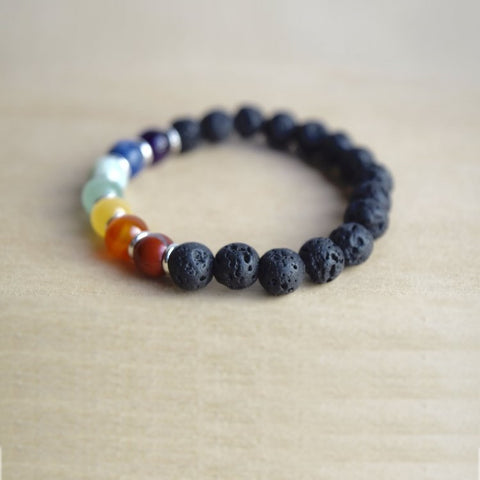 'Child's Chakra' Lava Stone Essential Oil Bracelet Diffuser