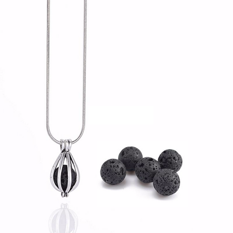 'Beauty' Lava Stone Necklace Diffuser