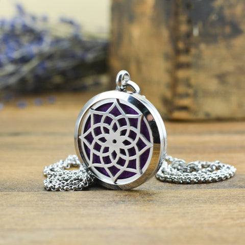 'Lotus Flower' Essential Oil Necklace Diffuser