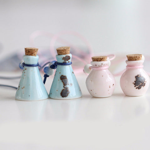 'Ceramic' Essential Oil Bottle Necklace