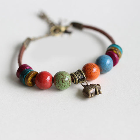 'Ellie the Elephant' Leather Diffuser Bracelet