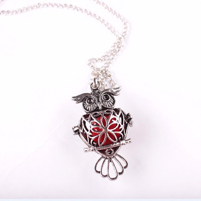 'Amazing Owl' Essential Oil Necklace Diffuser