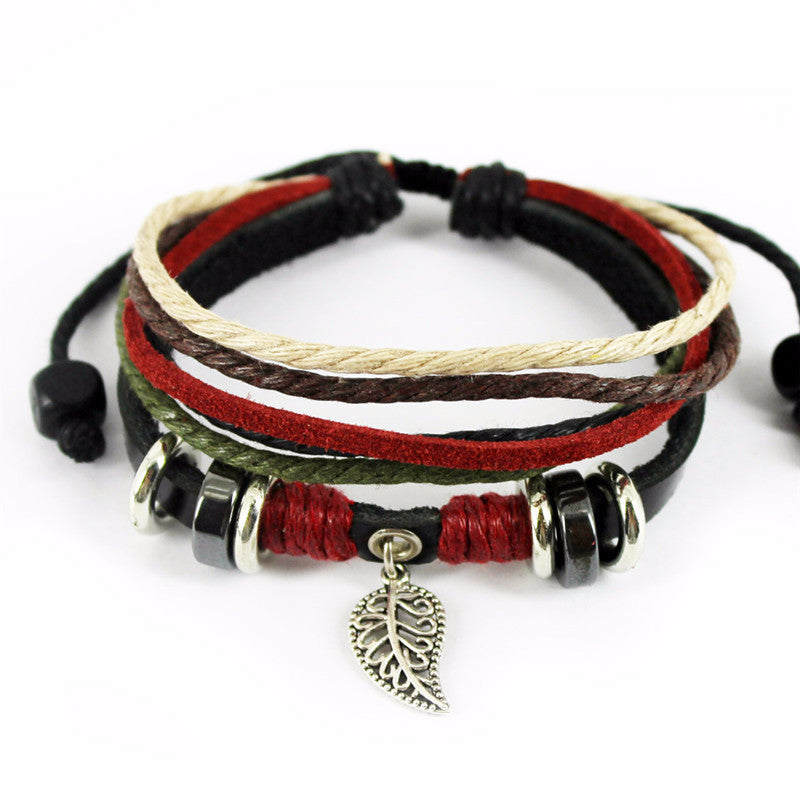 'Ruby Feather' Leather Essential Oil Bracelet Diffuser