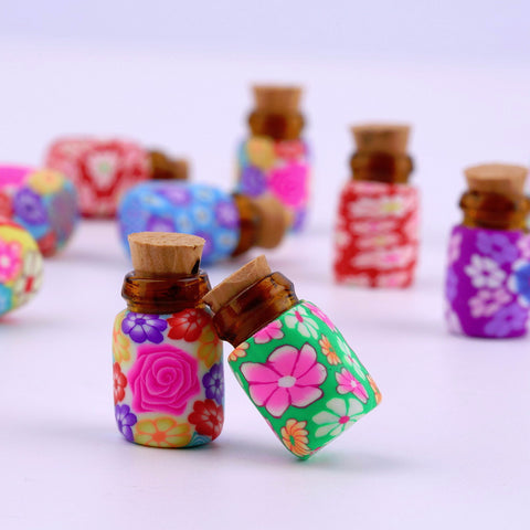 Cute Essential Oil Clay Bottle Set