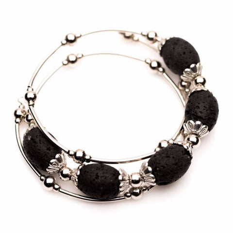 'Remarkable' Lava Stone Essential Oil Bracelet Diffuser