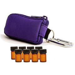 Essential Oil Bottle Key Chain Case