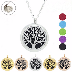 'Tree of Life' Locket Essential Oil Necklace Diffuser