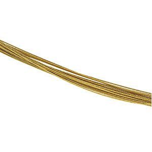 18K Yellow Gold 25 Row Cable chain - shopvistar