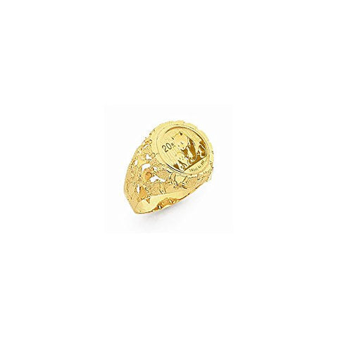 14k 1/20th Panda Coin Ring Mounting - shopvistar