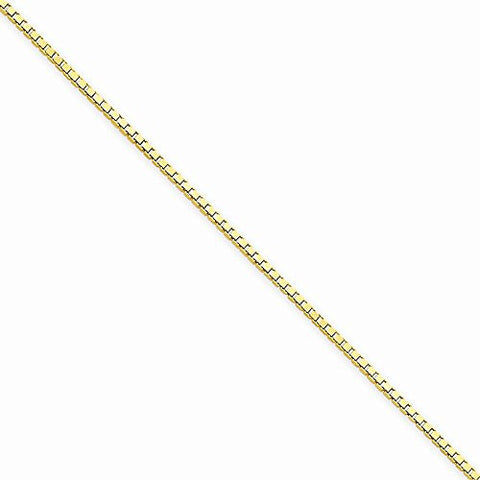 14k 1.30mm Box Chain, Best Quality Free Gift Box Satisfaction Guaranteed - shopvistar