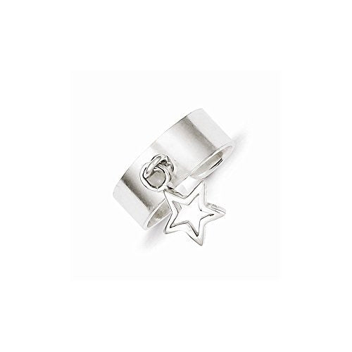Sterling Silver Star Dangle Toe Ring, Best Quality Free Gift Box Satisfaction Guaranteed - shopvistar