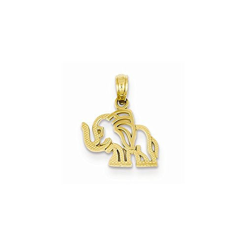 14K Elephant Pendant, Best Quality Free Gift Box Satisfaction Guaranteed - shopvistar