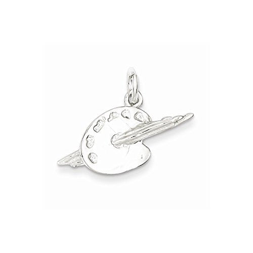 Sterling Silver Palette Charm, Best Quality Free Gift Box Satisfaction Guaranteed - shopvistar