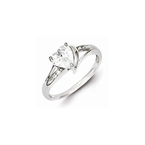 Sterling Silver Rhodium Plated Cz Triangle Ring, Best Quality Free Gift Box Satisfaction Guaranteed - shopvistar
