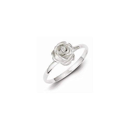 Sterling Silver 8mm Rose Ring, Best Quality Free Gift Box Satisfaction Guaranteed - shopvistar