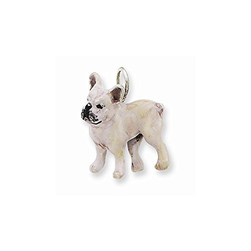 Silver Enamel French Bulldog, Best Quality Free Gift Box Satisfaction Guaranteed - shopvistar