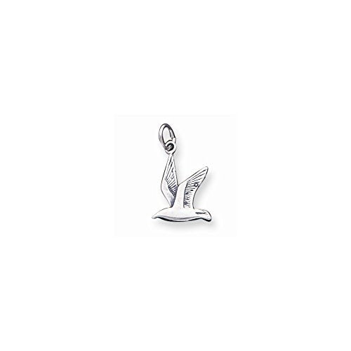 Sterling Silver Antiqued Seagull Charm, Best Quality Free Gift Box Satisfaction Guaranteed - shopvistar