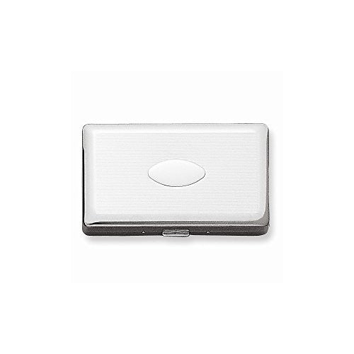 Silver-tone (Holds 20-120mm) Cigarette/Card Case - shopvistar