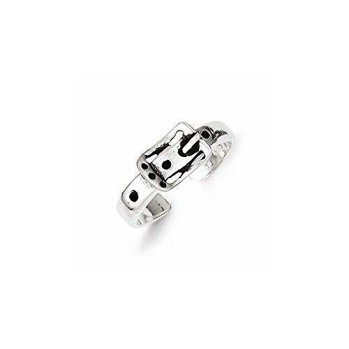 Sterling Silver Antiqued Buckle Toe Ring, Best Quality Free Gift Box Satisfaction Guaranteed - shopvistar