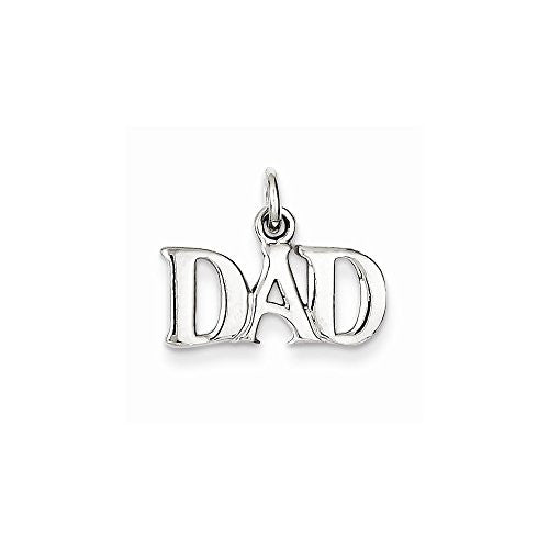 Sterling Silver Dad Charm, Best Quality Free Gift Box Satisfaction Guaranteed - shopvistar