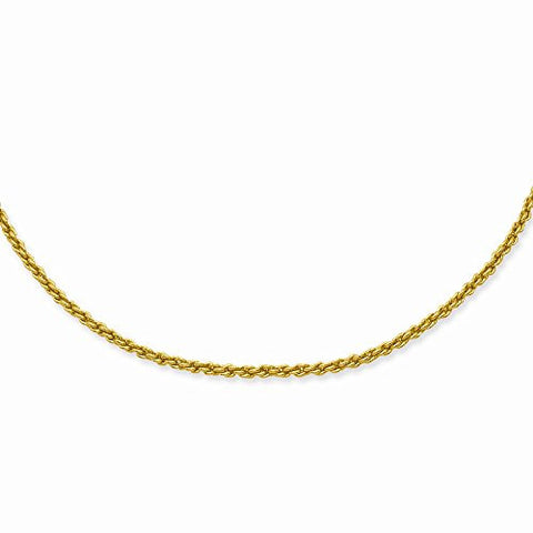18in Gold-plated 2mm French Rope Chain, Best Quality Free Gift Box Satisfaction Guaranteed - shopvistar