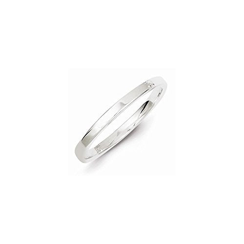 Sterling Silver 2mm Flat Band, Best Quality Free Gift Box Satisfaction Guaranteed - shopvistar