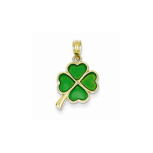 14K 4-Leaf Clover Translucent Acrylic Pendant, Best Quality Free Gift Box Satisfaction Guaranteed - shopvistar