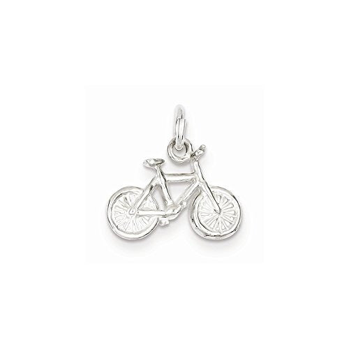Sterling Silver Bicycle Charm, Best Quality Free Gift Box Satisfaction Guaranteed - shopvistar