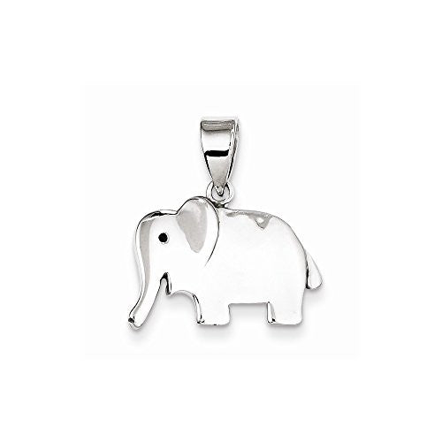 Sterling Silver Elephant Pendant, Best Quality Free Gift Box Satisfaction Guaranteed - shopvistar