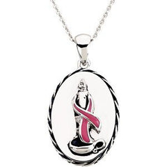 Sterling Silver Breast Cancer Awareness Blesse - shopvistar