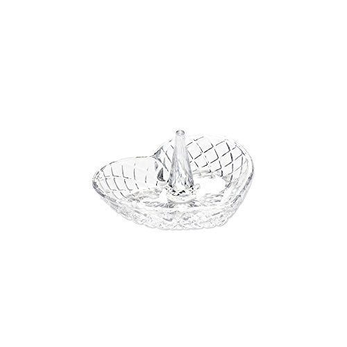 Heart Shape Glass Ring Holder, Best Quality Free Gift Box Satisfaction Guaranteed - shopvistar