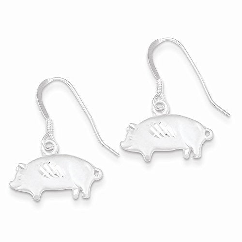 Sterling Silver Satin Pig Earrings, Best Quality Free Gift Box Satisfaction Guaranteed - shopvistar